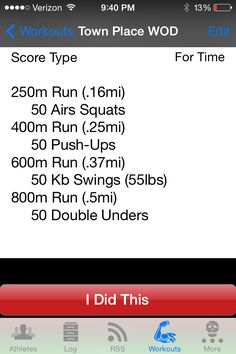 Town Place WOD