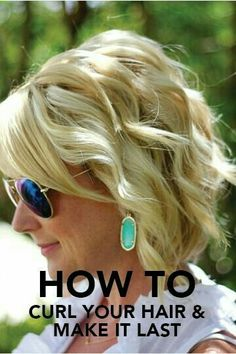 Curl w/ curling iron and link to friend's blog to curl w/ straightener