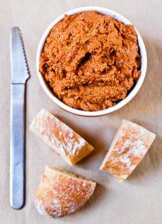 Muhammara (Roasted Bell Pepper Spread with Walnuts and Cashews) Recipe on Chocolate & Zucchini