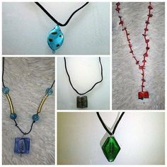 murino glass necklaces by AtticDisir on Etsy