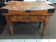 1880s ANTIQUE FRENCH BUTCHER BLOCK