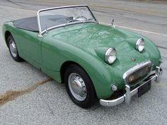 Austin Healey Bugeyed Sprite~Image via Cars Attractive British Sports Cars, Classic Sports Cars, Classic Cars, British Car, Retro Cars, Vintage Cars, Antique Cars, Birmingham, Austin Cars