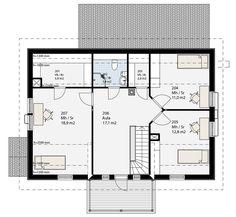 Simons Hus - Elementtitalot - DIMINUENDO Floor Plans, How To Plan, Floor Plan Drawing, House Floor Plans