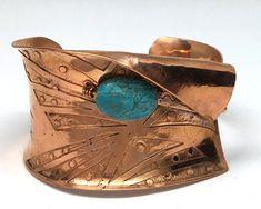 Copper Cuff, Copper Bracelet, Metal Bracelets, Copper Jewelry, Wire Jewelry, Cuff Bracelets, Copper Metal, Hammered Copper, Silver Engagement Rings