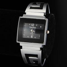 Damen+Modeuhr+Armband-Uhr+Quartz+Legierung+Band+Armreif+Silber+–+EUR+€+5.75 Ladies Bangles, Casual Watches, Electronics Gadgets, Cool Gadgets, Cool Stuff, Stuff To Buy, Bracelet Watch, Quartz, Bracelets