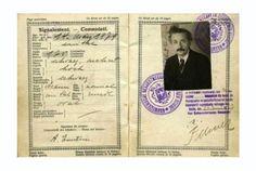 15 Vintage Celebrity Passports | Mental Floss - / Einstein