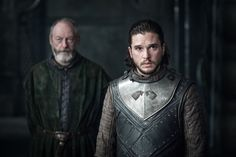 Jon Snow and Davos Seaworth. Game of Thrones season Kit Harington Liam Cunningham, Game Of Thrones Saison, Game Of Thrones Episodes, Game Of Thrones Cast, Jon Snow And Daenerys, The Shape Of Water, Thea Queen, Khal Drogo, Kit Harington