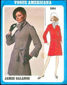 Vintage 1960's Vogue Americana 2004 James Galanos Dress Sewing Pattern