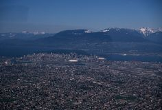 1980s: The newly-constructed BC Place draws all the attention in this aerial shot: City of Vancouver Archives