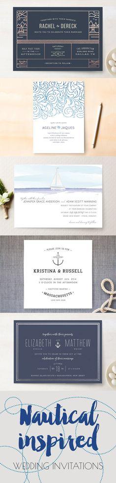 Nautical Wedding Invitations - Inspired by Nautical Weddings