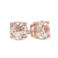 5.0mm Morganite Stud Earrings in 10K Rose Gold                                                                                                                                                                                 More