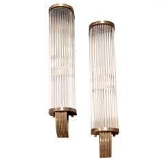 1stdibs - Italian 60's Pair of Tubular Glass Sconces explore items from 1,700  global dealers at 1stdibs.com