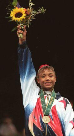 Dominique Dawes. 1996 Olympics gymnastics champion.