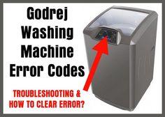 Godrej Washing Machines Error Codes – Fault Code Definitions