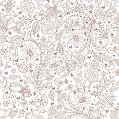 Floral pattern . Royalty Free Stock Vector Art Illustration