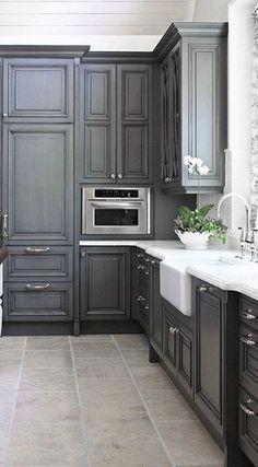 Dove Gray Home Decor ♅ grey kitchen