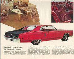 1969 Mercury Marauder X Retro Cars, Vintage Cars, Vintage Auto, Ford Classic Cars, Classic Auto, Mercury Marauder, Edsel Ford, Good Looking Cars, Mercury Cars