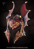 Preeeettty *_*  Flame Armor Leather Helmet by Azmal