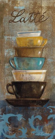 Antique Coffee Cups II Posters by Silvia Vassileva at AllPosters.com Café Chocolate, Coffee Cup Art, Poster Prints, Art Prints, Vintage Diy, Kitchen Art, Painting On Wood, Find Art, Wall Canvas