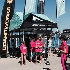 We are at @standupforthecure in #Newport! Excited to be here supporting a great cause. Come by our booth and demo our paddles! #aztekpaddles #paddleboarding #paddle #standSUP #supconnect #suplife