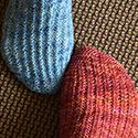 Look closely...fun reverso socks....Fall 2014 knitty