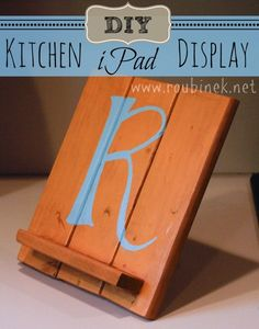 DIY Kitchen iPad Display - so cute! This would make an awesome gift.
