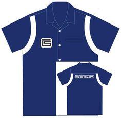 Button up Collared Short Sleeve Mechanic Camp//Club Shirt David Carey Ford Performance Pit Crew Shirt Grey /& Black