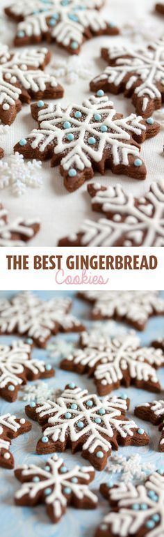 This is my absolute favourite gingerbread. Its more than just a pretty cookie – its got a lovely soft texture, holds its shape well, and is loaded with flavour. Whether youre making gingerbread snowflakes or spooky halloween cookies, this is your recipe! Best Gingerbread Cookies, Holiday Cookies, Halloween Cookies, Holiday Treats, Spooky Halloween, Holiday Recipes, Gingerbread Icing, Gingerbread Recipes, Vegan Gingerbread