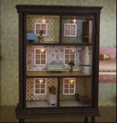 Dollhouse in a bookcase
