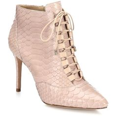 Alexandre Birman Mally Python Lace-Up Booties ($1,180) ❤ liked on Polyvore featuring shoes, boots, ankle booties, apparel & accessories, nude, victorian ankle boots, snake skin boots, lace up booties, lace up boots and lace up bootie