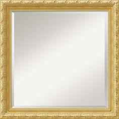"0-028401>24x24"" Versailles Square Mirror Framed Mirror"