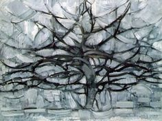 Piet Mondrian - Piet Mondrian, Gray Tree, 1911, an early experimentation with Cubism