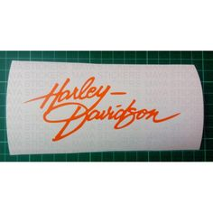 Unique design harley Davidson sticker created in beautiful handwriting style…