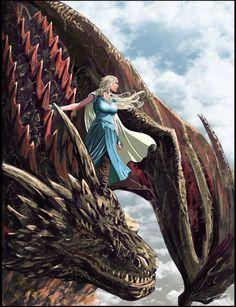 Pin this to your board! - Big Game of Thrones Sale on https://www.world-of-westeros.com/ - Daenerys Targaryen, Siddharth panwar on ArtStation at https://www.artstation.com/artwork/a8ZVL
