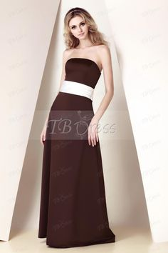Fantastic Ribbons/Sashes Sheath/Column Spaghetti Straps/Strapless Floor-length Dasha's Bridesmaid Dress