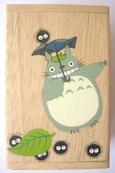 Hand painted Totoro box...WITH LITTLE SOOT GREMLINS!!!! :D