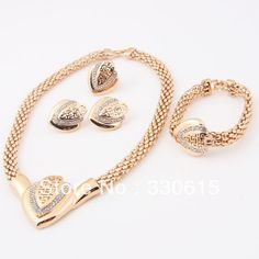 SEE HERE DEALS ON !!18k Yellow Gold Filled Jewellery!! Necklace Sets ALL shipped From ROMANIA Found At TripleClicks!! | Finance Release
