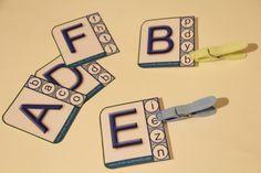 Les lettres de l'alphabet en maternelle Alphabet Cursif, Kids Learning, Montessori, Homeschool, Teaching, Education, School, Activities, Letter Activities