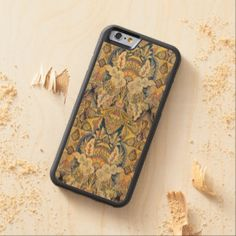 Colorful Antique Faux Tapestry Floral Pattern Carved® Maple iPhone 6 Bumper Case