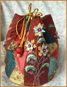 little crazy quilt bag