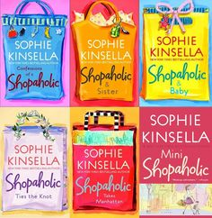 Confessions of a Shopaholic Series by Sophie Kinsella. I absolutely loved these books. I read them a while ago, they are cute, funny, heartfelt. I Love Books, Good Books, Books To Read, My Books, Sophie Kinsella Books, Confessions Of A Shopaholic, I Love Reading, Book Authors, Book Nerd