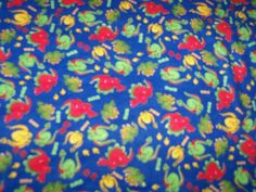 Dinosaur  Flannel  Cotton Fabric 68x42  inches, Blue by susiesfabrics on Etsy