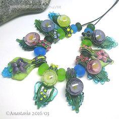 ANASTASIA-handmade-lampwork-beads-9-SPRING-BOUQUET-SRA http://www.ebay.com/itm/262332393382?ssPageName=STRK:MESELX:IT&_trksid=p3984.m1555.l2649