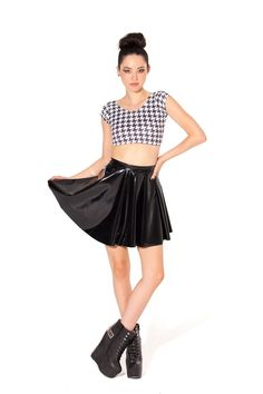 PVC Skater Skirt by Black Milk Clothing
