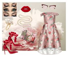 """""""Untitled #34"""" by ks-sk ❤ liked on Polyvore featuring Zephyr, Gianvito Rossi, Ross-Simons, DaVonna, Gucci and Le Specs"""
