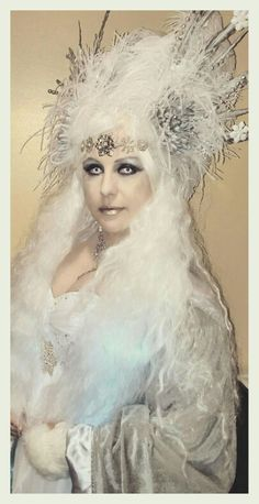 Snow Queen Halloween. Make up and contacts.