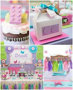 Girly Lego Friends Birthday Party via Kara's Party Ideas | Full of party ideas, printables, recipes, supplies, favors, and more! KarasPartyIdeas.com (3)