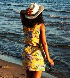 #Robe ramatuelle imprimé fleuri #couture