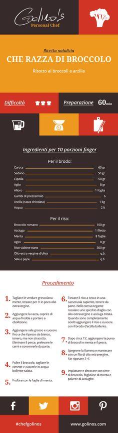 """Per la cena della Vigilia vi propongo un grande classico romano delle feste: la minestra di broccoli e arzilla, che, rivisitata da me, diventa un vero piatto fusion di tradizioni  italiane. Ed ecco il tocco nordico del risotto - Vialone nano di Isola della Scala, Verona -  mantecato non con il burro ma con l'olio. Sì, un extravergine Casaliva, cultivar tipica del Garda, per compensare """"l'ignoranza""""  romana dell'acciuga e del broccolo. Andrea Golino, Personal Chef. #chefgolinos #recipe…"""