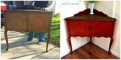 Picked & Painted: Corner Cabinet: Before & After